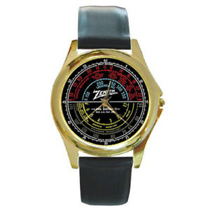 Zenith-12A58-Dial-Radio-Custom-Style-Round-Gold-Metal-Watch