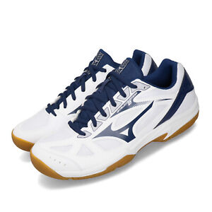 Mizuno-Cyclone-Speed-2-White-Blue-Volleyball-Badminton-Shoes-Sneaker-V1GA1980-16