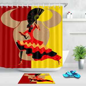 Image Is Loading 72x72 039 Spanish Dancer Woman Shower Curtain