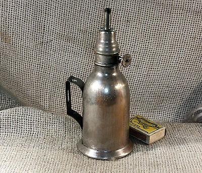 ANTIQUE 19`c FRENCH BRIQUET Portable OIL KEROSENE LAMP RETRO DECOR