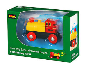 Brio Two Way Battery Powered Wooden Train Engine 33594