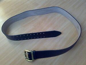 Zweidorn-Koppel-Leder-Guertel-Gr-1-Farbe-Schwarz-UdSSR-Russland-Belt