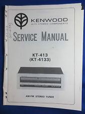 KENWOOD KT-413 KT-4133 TUNER SERVICE MANUAL ORIGINAL FACTORY ISSUE  V1