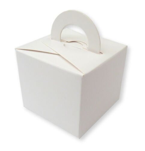 20 WHITE  BALLOON WEIGHT  BOX WEDDING FAVOURS GIFTS CAKE BIRTHDAY PARTY