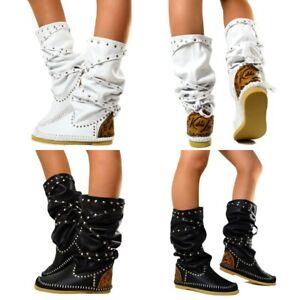 Details zu Damen Indianer Stiefel Ibiza Boots MADE IN ITALY Echtleder KIKKILINE Linda