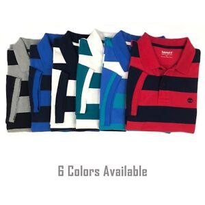 Timberland-Men-039-s-Short-Sleeve-Pique-Summer-100-Cotton-Polo-Shirt-A1KVN