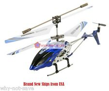 Blue Remote Controlled toy Helicopter RC 3 Channel 3ch with Gyro RTF Syma Gyro