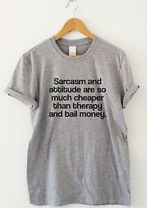 SARCASM-AND-ATTITUDE-funny-saying-T-shirts-humour-sarcastic-top-slogan-tee-gift