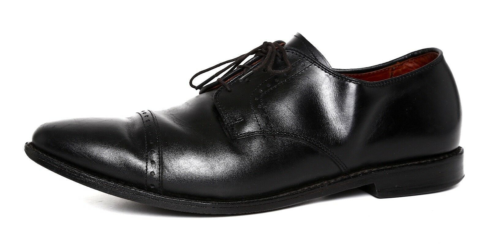 Allen Edmonds Clifton Cuir Blücher Derbies Noir Hommes Sz 12 D 1593