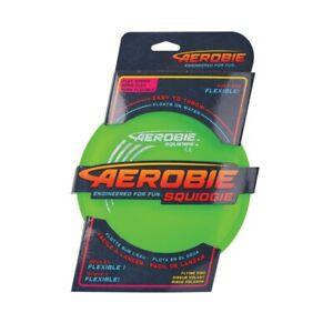 NG - AEROBIE SQUIDGIE Disc - flexible Wurfscheibe - GRÜN - SCHWIMMFÄHIGE Frisbee