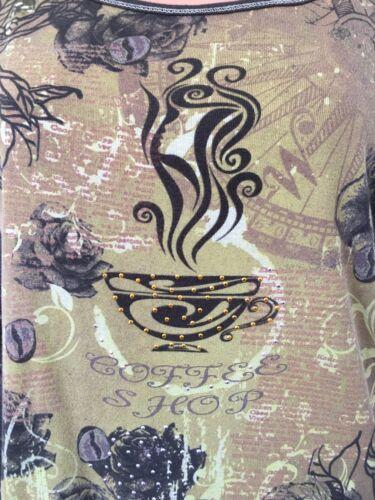 Cotton Vintage Shop Coffee Roses Susie Beans Top Knit Xl BgfgW1qS6