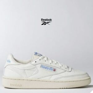 Reebok Classic Club C 85 Vintage Shoes Beige White V69406 SZ