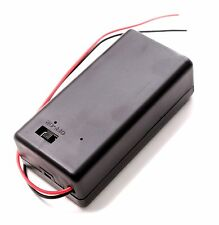 (1 PC) New 9V Battery Holder Case with ON/OFF Switch & Lead Wires. USA Seller!!!