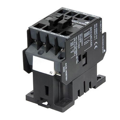 230-240v//60hz 4,0kw 3s1ö no 4036.7503 Contactor klibo 7,5 220-230v//50hz