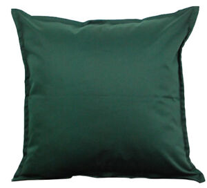 """Two Green Throw Pillows With Insert Cotton Cushion Sofa 18/""""X18/"""" Couch Pair"""