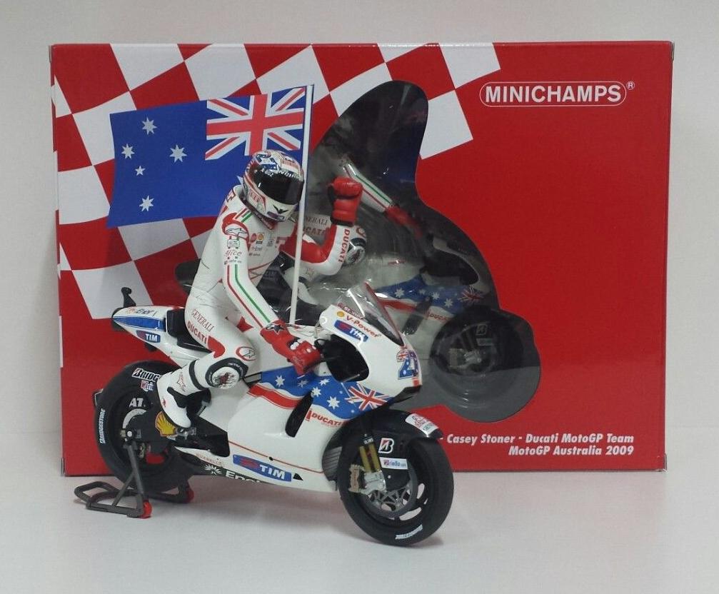 MINICHAMPS 1 12 DUCATI DESMOSEDICI CASEY STONER WINNER GP AUSTRALIA MOTOGP 2009