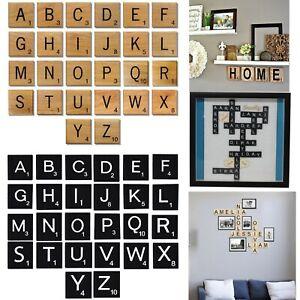 Détails Sur 10 Pièces Bois Scrabble Individuel Carreaux Lettres Alphabet Jeu Jouet Cadeau