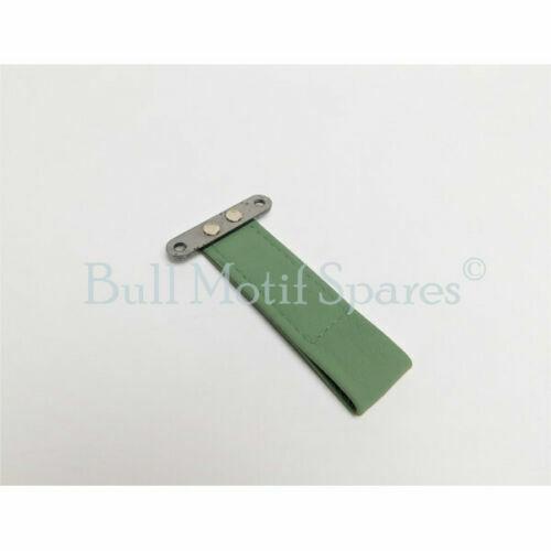 Leather Morris Minor Door Pull Strap Porcelain Green
