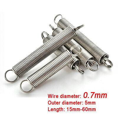 Draht X 18mm Out Durchmesser X mm L/änge Hohe elastische Feder Edelstahl-Tension Zugfeder Hersteller 2mm Durchmesser 105-150 Size : 130mm length