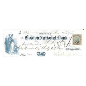 1875-BOSTON-MASS-NATIONAL-BANK-CHECK-WOMAN-EAGLE-VIGNETTES-AA794TSX1