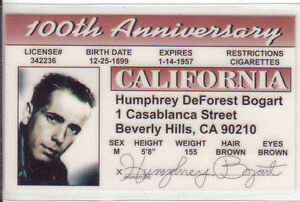 Humphrey-Bogart-star-of-the-Africian-Queen-Maltese-Falcon-ID-Drivers-License