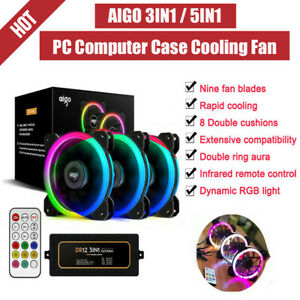 120mm-AIGO-DR12-Quiet-PC-Case-Cooling-Fans-DC-12V-4-6-PIN-Computer-CPU-Cooler