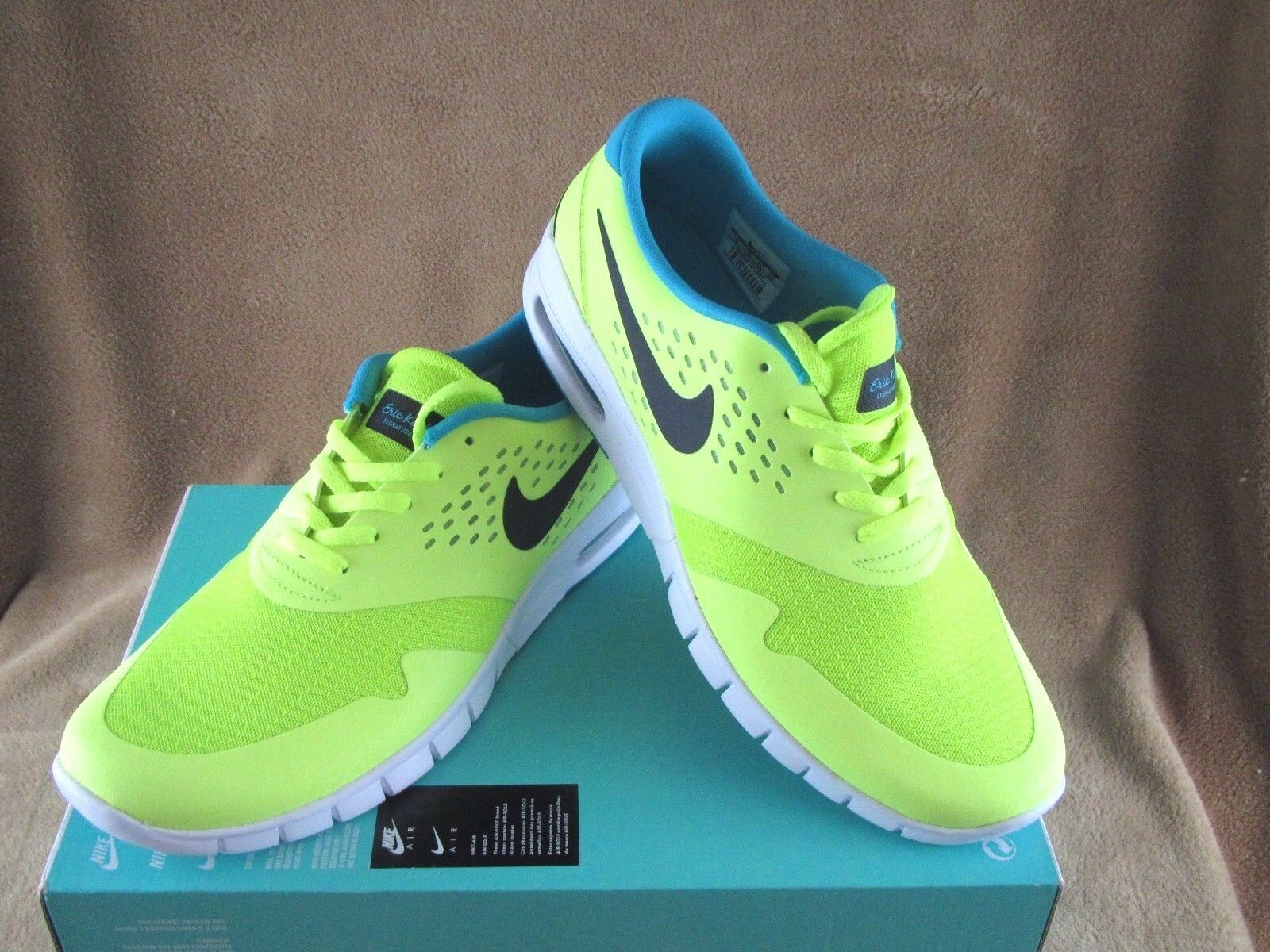 NEW NIKE ERIC KOSTON 2 MAX SKATE SHOE VOLT/BLK/DUSTY CACTUS MEN'S 11 New shoes for men and women, limited time discount