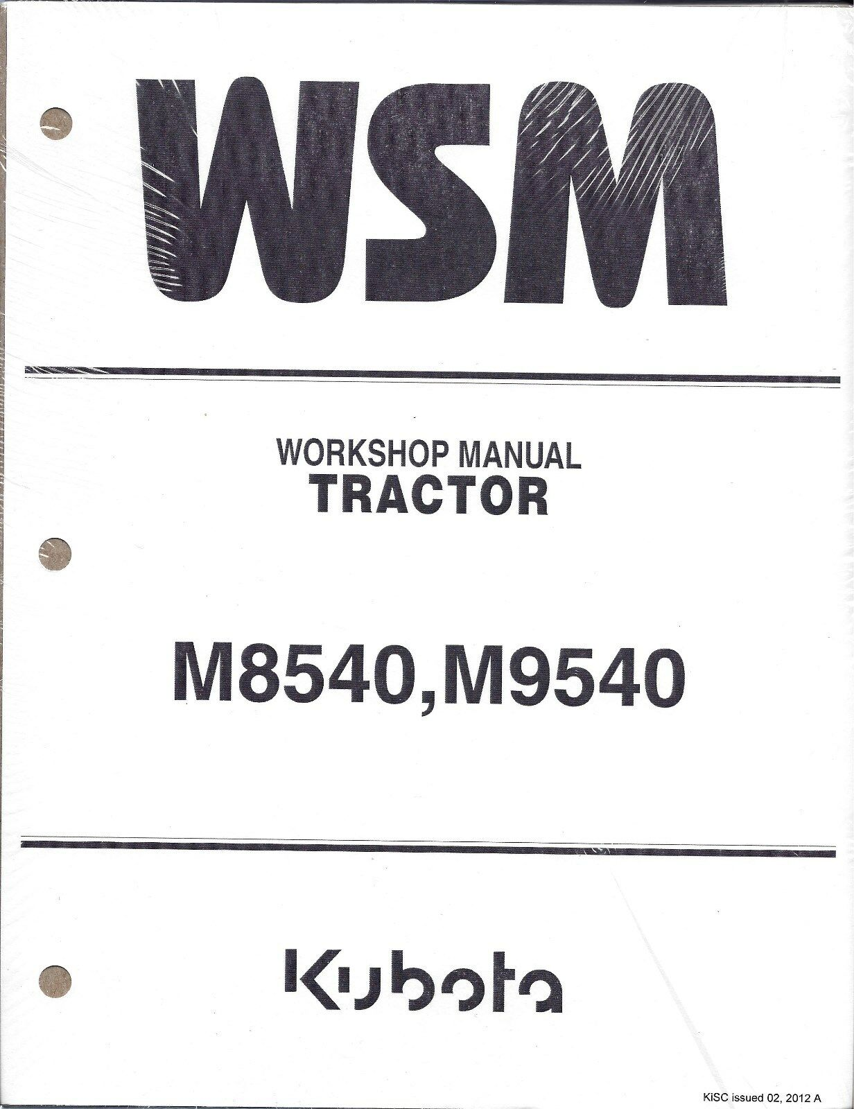 kubota m8540 m9540 tractor workshop service repair manual ebay rh ebay com kubota m8540 repair manual kubota m8540 owners manual