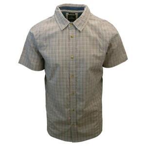 prAna Men's Coral Box Plaid S/S Woven Shirt (Slim Fit) S02