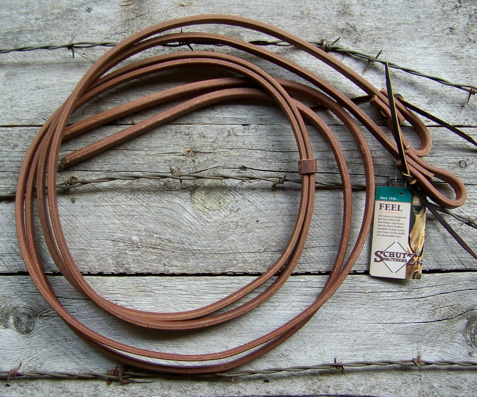 Reins - Oiled Harness Leather Water Loop (1 2 Inch) by Schutz Bredhers