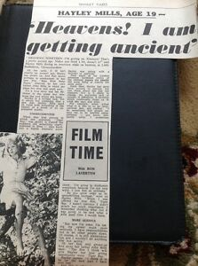 66-1-Ephemera-1965-Article-Hayley-Mills-At-19-Film-Star