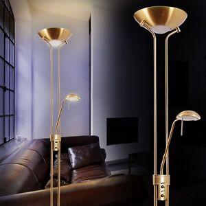 lampada a stelo led piantana ottone design dimmerabile lampada da