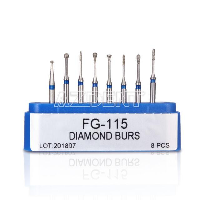 8pcs Dental Diamond Burs Minimally Invasive Cavity Preparation Coarse Kit FG-115