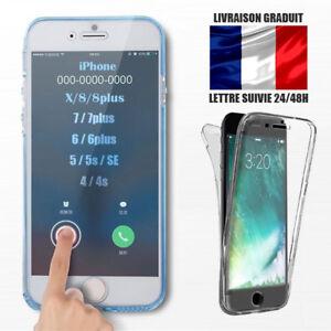 Hybrid-Coque-360-Antichocs-integral-pour-iPhone-8-7-Plus-6S-6-5S-SE-X-XR-XS-MAX