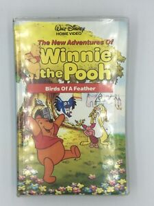 Rare-The-New-Adventures-Of-Winnie-the-Pooh-Birds-of-a-Feather-VHS-PAL-Clam