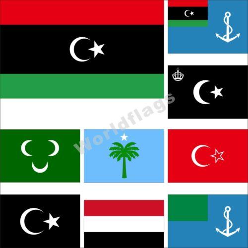 Libya Flag 3X5FT Naval King Idris I Tripoli Tripolitanian Cyrenaica al-Gaddafi