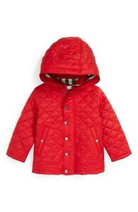 27704fb15747 NWT NEW Burberry baby girls boys Jerry red pink or blue quilted ...