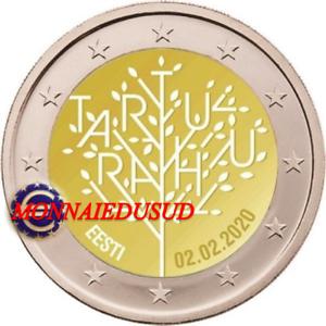2-Euro-Commemorative-Estonie-2020-Traite-de-Tartu-UNC-NEUVE