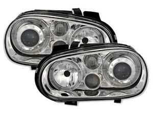 Angel-Eyes-Scheinwerfer-Set-fuer-VW-GOLF-4-IV-in-Klarglas-mit-Nebelscheinwerfer