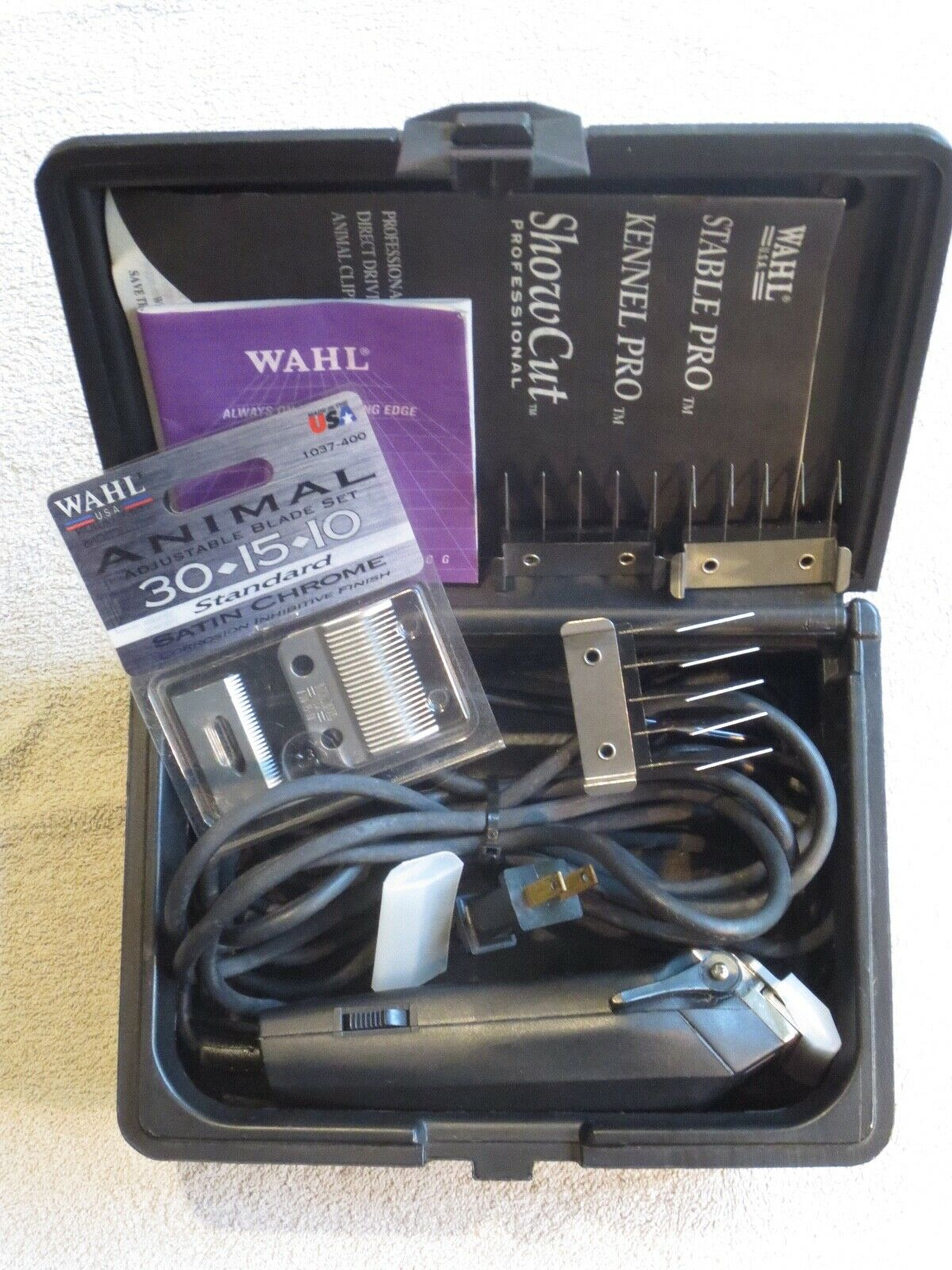 Wahl Kennel Pro 8892 Direct Drive Grooming Kit Complete + Extra Blade Set   Exc