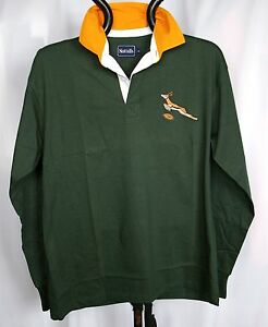 South African Retro Classic Combed Cotton Springbok Rugby Shirt Ebay