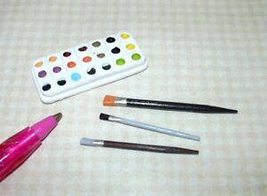 Miniature-1-6-Barbie-Scale-Paint-or-Watercolors-1-3-8-034-x-5-8-034-Set-DOLLHOUSE