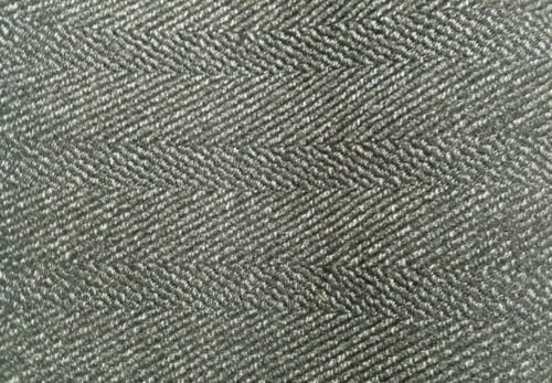 GREY SMOKED MELANGE BORDERED DRESS MAKING FABRIC SOLD BY PATTERN