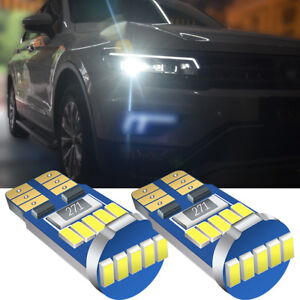 2x Volvo XC90 Bright Xenon White 8SMD LED Canbus Number Plate Light Bulbs