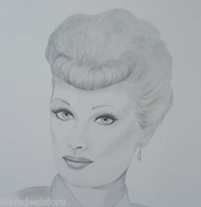 Image Is Loading Lucille Ball I Love Lucy Black White Pencil
