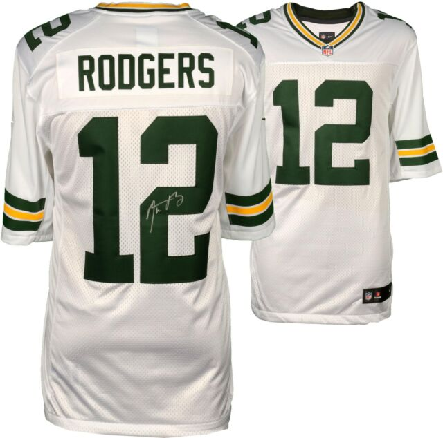 low priced c5d38 82832 Framed Aaron Rodgers Green Bay Packers Autographed Nike White Limited Jersey