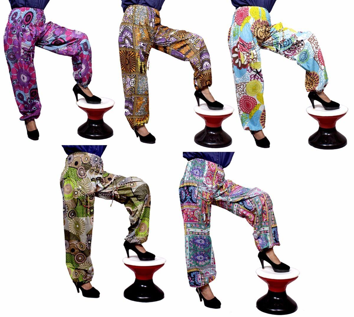 Apparels India 10Pc Harem USA Floral Print Hippie Trousers Pants Wholesale Lot