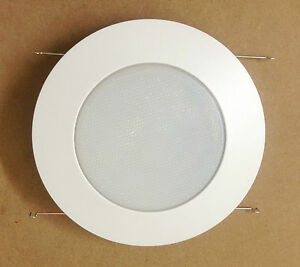 6 inch recessed can light shower trim frosted glass albalite lens image is loading 6 034 inch recessed can light shower trim aloadofball Gallery