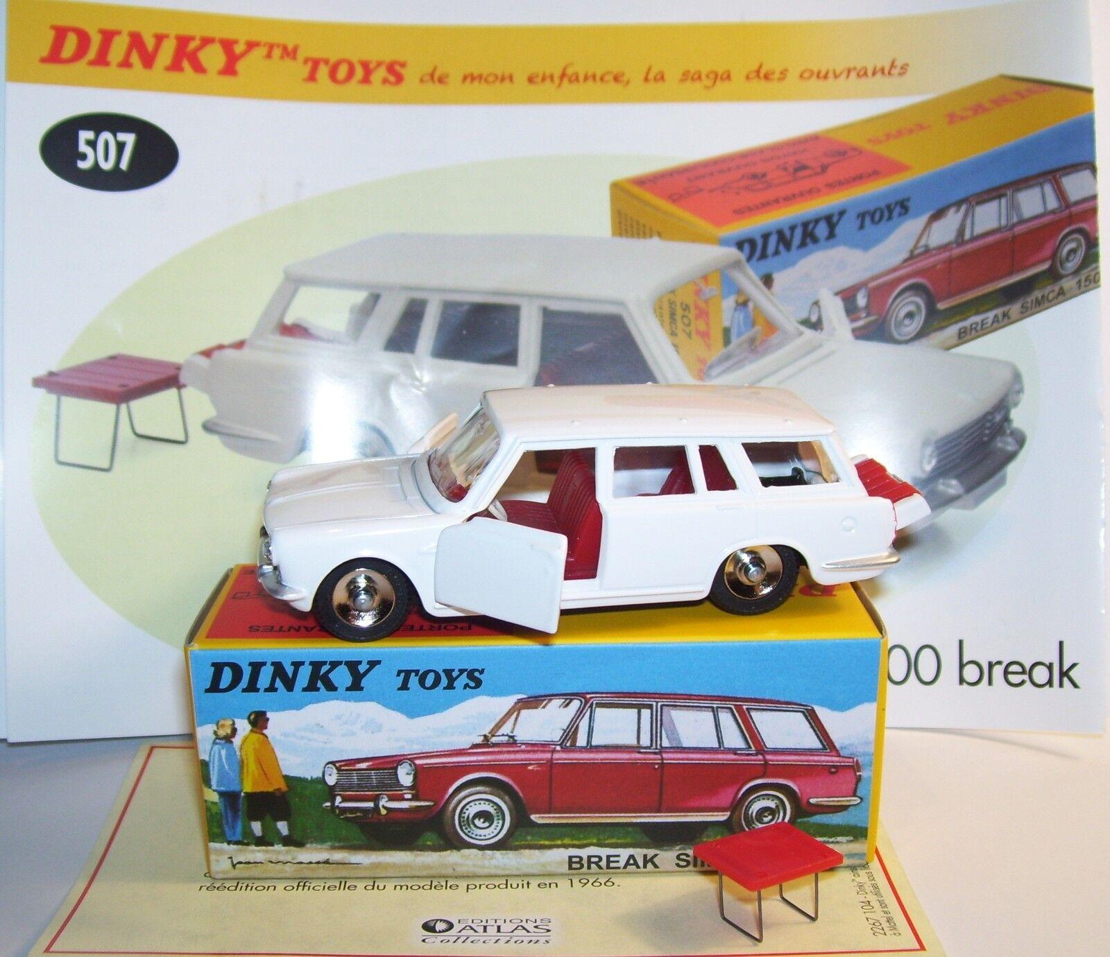 DINKY TOYS ATLAS SIMCA 1500 BREAK REF 507 BOX portes tronco las aperturas EN Box