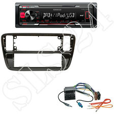 Kenwood KMM-DAB403 + VW up! (AA/AAN) 1-DIN Blende schwarz +Quadlock-Adapter